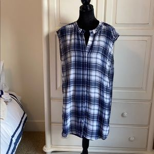 BB Dakota Nelson Plaid Chiffon Shirtdress